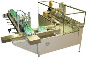 ScottPHS offers a semi-automatic case packing solution for small to medium bottling line applications