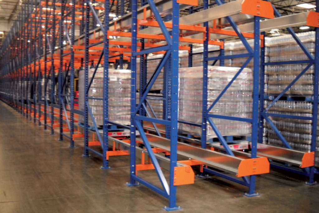 Automated solutions for warehouse applications including pallet racking and pallet shuttles for deep lane AS/RS systems